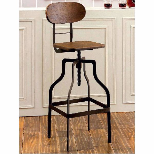 Furniture of America - Leith Swivel Bar Stool