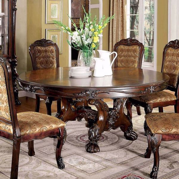 Furniture of America - Medieve Round Dining Table