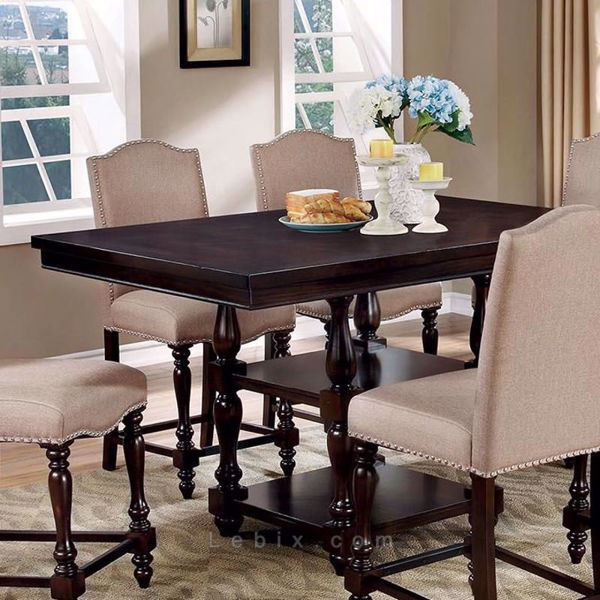 Furniture of America - Hurdsfield Counter Height Dining Table