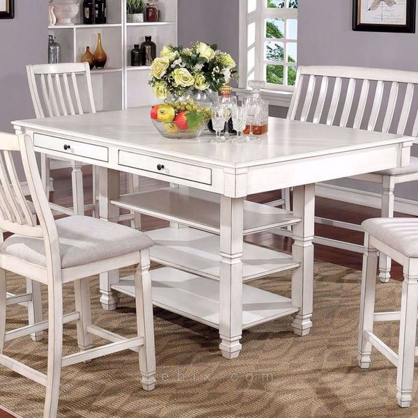 Furniture of America - Kaliyah Counter Height Dining Table