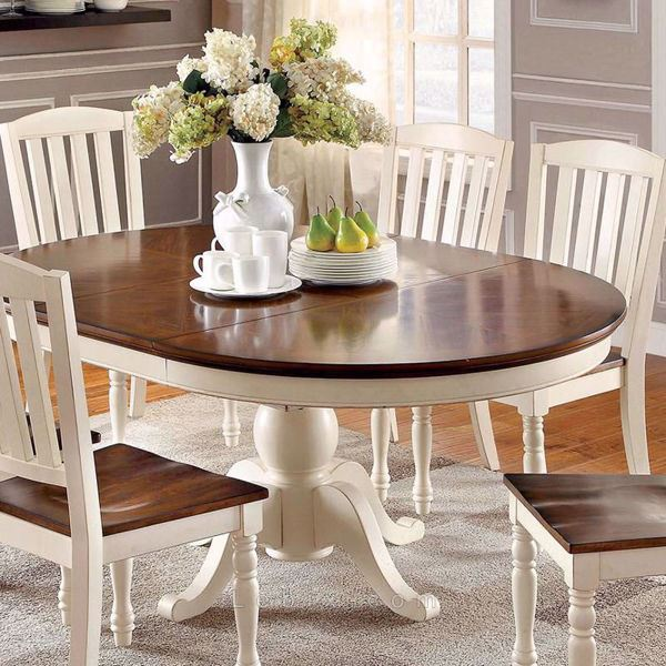 Furniture of America - Harrisburg Oval Dining Table