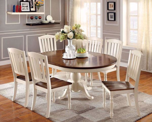 Furniture of America - Harrisburg Dining Table Set