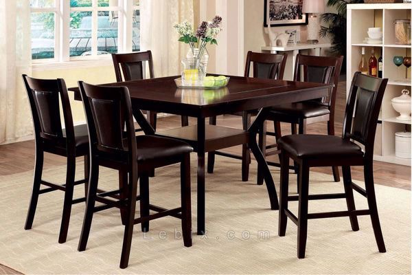 Furniture of America - Brent Ii Dining Table Set