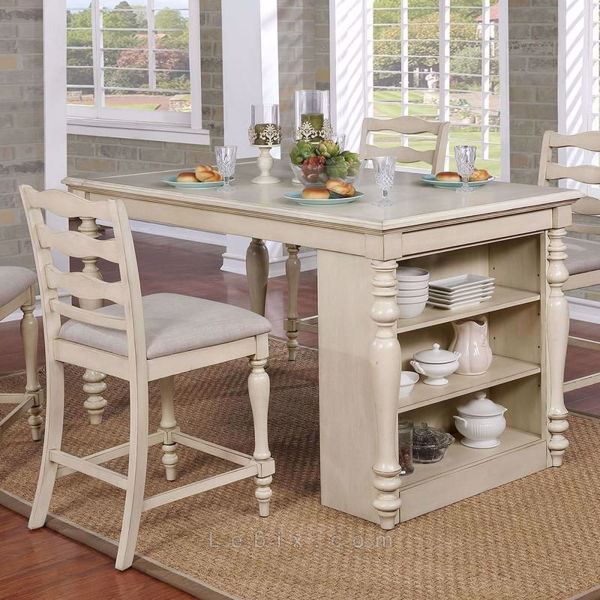 Furniture of America - Theresa Counter Height Dining Table