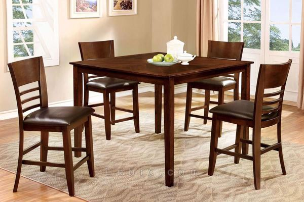 Furniture of America - Hillsview Ii Counter Height Table Set