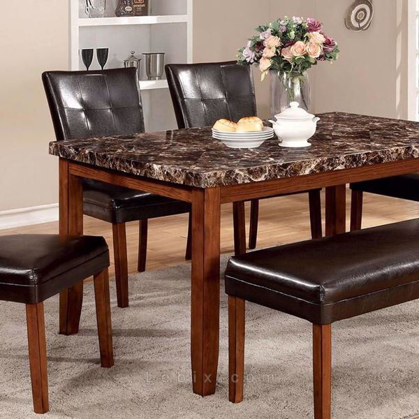 Furniture of America - Elmore Marble Top Dining Table