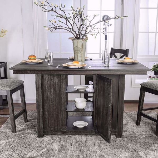 Furniture of America - Faulkton Counter Height Dining Table