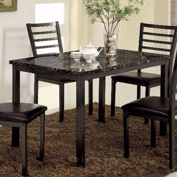 Furniture of America - Colman Marble Top Dining Table