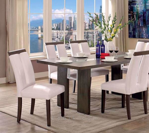 Furniture of America - Luminar Ii Counter Height Table Set