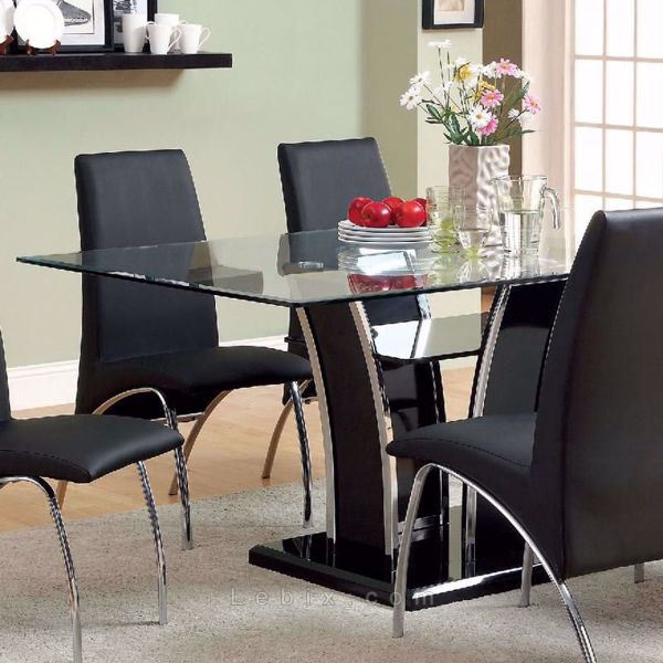 Furniture of America - Glenview Glass Top Dining Table