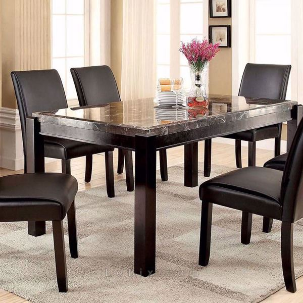 Furniture of America - Grandstone I Marble Top Dining Table