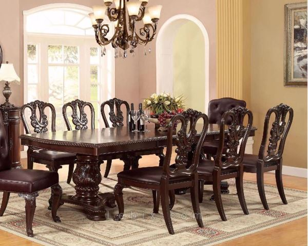 Furniture of America - Bellagio Dining Table Set