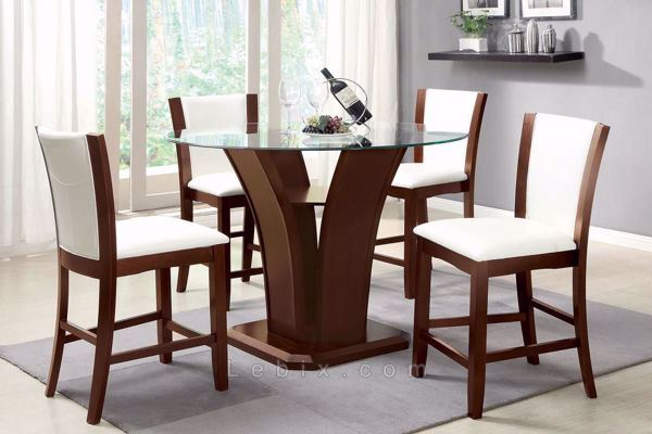 Furniture of America - Manhattan Iii Counter Height Table Set