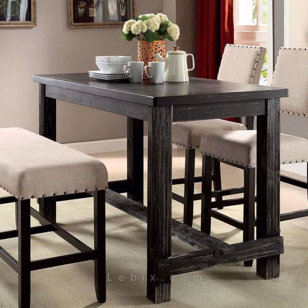 Furniture of America - Sania Ii Counter Height Dining Table