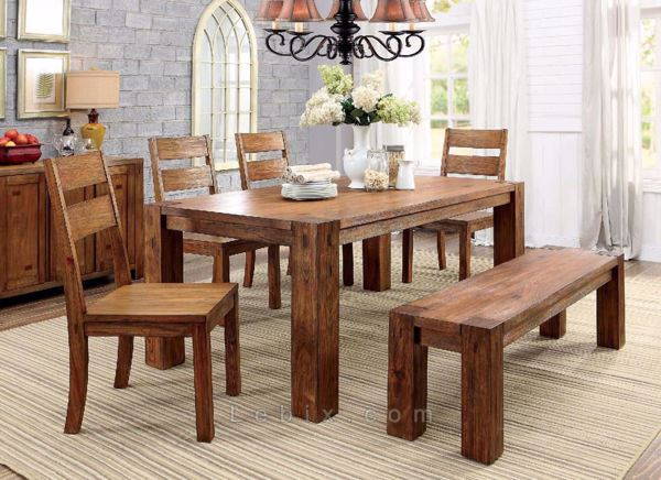 Furniture of America - Frontier Dining Table Set
