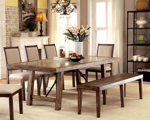 Furniture of America - Colette Dining Table Set