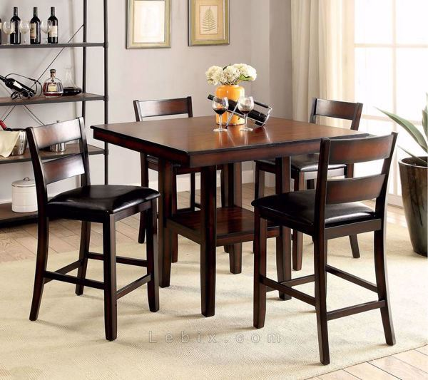 Furniture of America - Norah Ii Counter Height Table Set