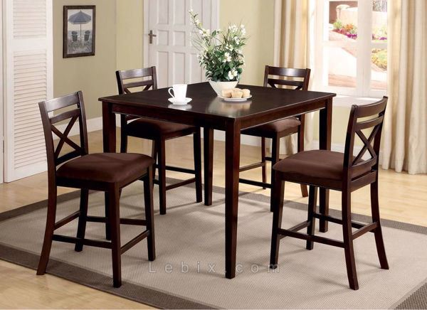 Furniture of America - Weston I Counter Height Table Set