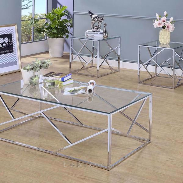 Furniture of America - Pamplona Coffee Table Set